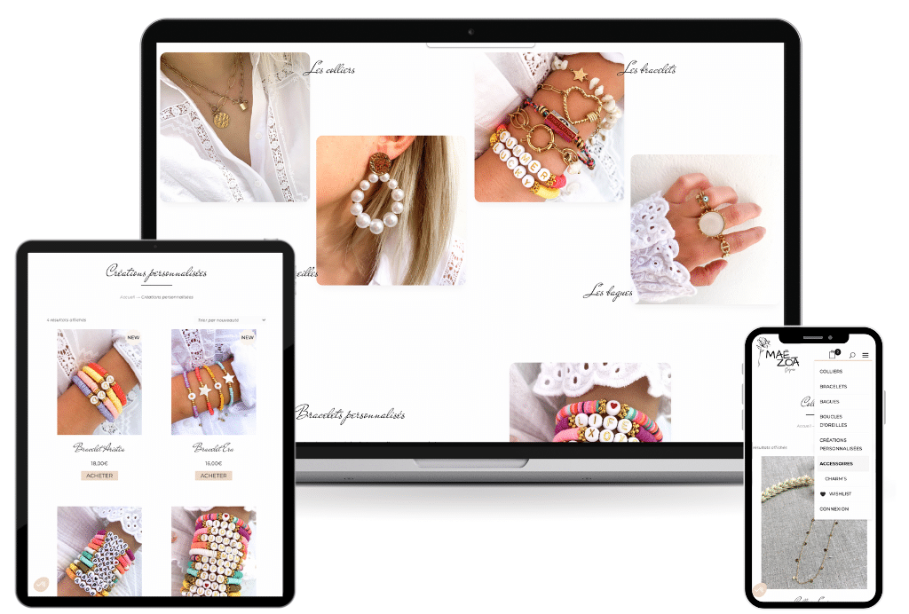 mae zoa creation site ecommerce boutique vente en ligne wordpress