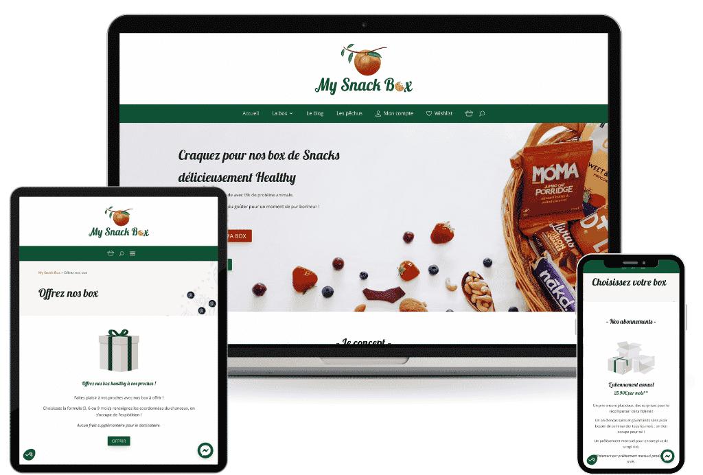 my snack box creation site ecommerce abonnement box mensuel wordpress woocommerce